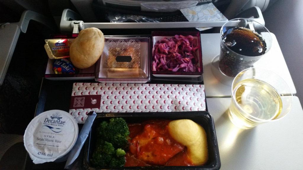 Qatar Airways kolacja 1