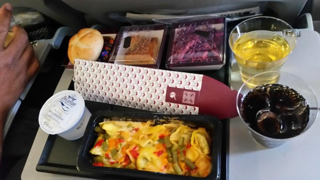 Qatar Airways kolacja 2