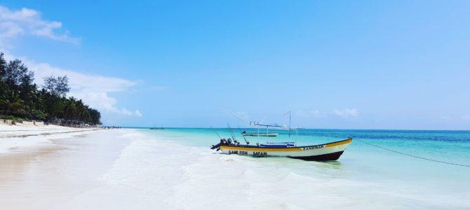 Piękne plaże Zanzibaru.